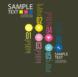 Infographic projekta szablon z graficznymi elementami ustawia ilustrację Wektorowa kartoteka w warstwach dla łatwego edytorstwa Zdjęcie Stock
