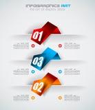 Infographic projekta szablon z papierowymi etykietkami Zdjęcia Royalty Free
