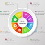 Infographic projekta szablon z sport ikonami Obraz Stock