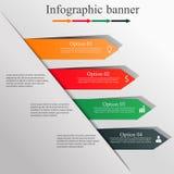 Infographic projekta sztandar Fotografia Stock