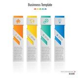 Infographic projekta wektor i marketingowe ikony Zdjęcia Stock