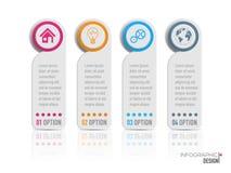 Infographic projekta wektor i marketingowe ikony Fotografia Royalty Free
