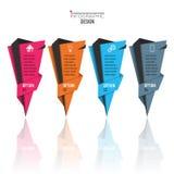 Infographic projekta wektor i marketingowe ikony Obrazy Royalty Free