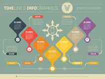 Infographic of purchase funnel. Vector presentation of business Stock Photo