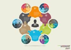Infographic pusselmall Designbegrepp för Arkivbilder