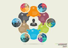 Infographic puzzle template . Design concept for Stock Images