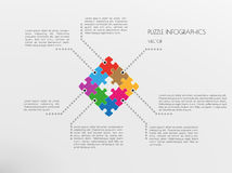 Infographic puzzle vector Stock Images