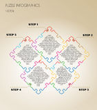 Infographic puzzle vector Stock Image