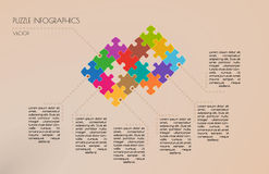 Infographic puzzle vector Royalty Free Stock Images