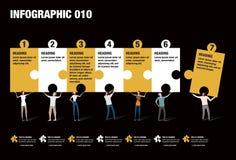 Infographic-Puzzlespiel Lizenzfreie Stockfotos