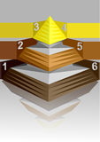 Infographic pyramid Stock Images