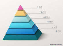 Infographic pyramid with numbers and business icons. Stock Image