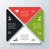 Infographic quadrado do vetor Imagens de Stock Royalty Free