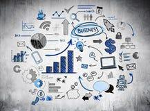 Infographic que mostra as tendências da economia Imagens de Stock Royalty Free