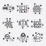 Infographic rättsvetenskap Fotografering för Bildbyråer
