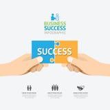 Infographic ręki chwyta wyrzynarki łamigłówki szablonu projekt biznes su ilustracji