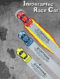 Infographic race car tuning option. In the road Stock Images