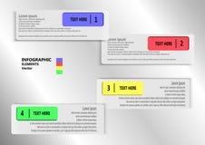 Infographic rechthoeken Royalty-vrije Stock Foto's