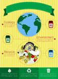 Infographic recycling Royalty Free Stock Photography