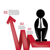 Infographic with red arrow Royalty Free Stock Images