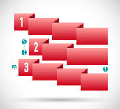 Infographic with red ribbon step chart Royalty Free Stock Images
