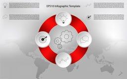 Infographic redondeada moderno Infographics circular de la cronología Imagen de archivo libre de regalías