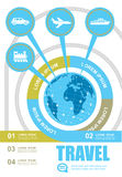Infographic reis en toerisme Royalty-vrije Stock Foto