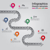 Infographic report template with arrows and icons Stock Photography