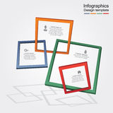 Infographic report template with frames and icons. Vector illustration Royalty Free Stock Images
