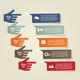 Infographic report template with hands. Vector Stock Images