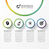 Infographic report template with icons. Business concept. Vector Stock Photography