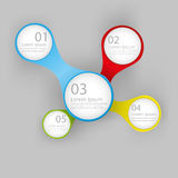 Infographic report template,  Royalty Free Stock Photography
