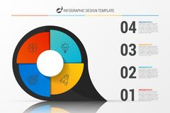 Infographic report template layout with 4 steps. Vector. Illustration royalty free illustration