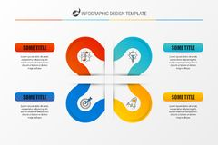 Infographic report template layout with 4 steps. Vector. Illustration Stock Photo