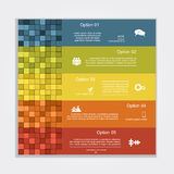 Infographic report template layout. Vector Royalty Free Stock Photography