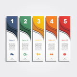 Infographic report template layout. Vector Royalty Free Stock Photos