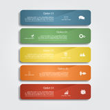 Infographic report template layout. Vector Stock Photos