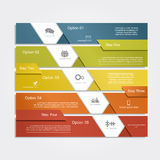 Infographic report template layout. Vector Royalty Free Stock Photo