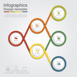 Infographic report template layout. Vector Royalty Free Stock Images