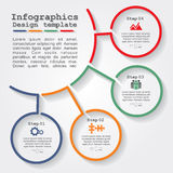 Infographic report template with lines and icons. Vector illustration Royalty Free Stock Photo