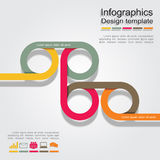Infographic report template with lines and icons Royalty Free Stock Images