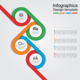 Infographic report template with lines and icons. Vector illustration Stock Image