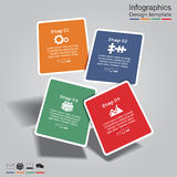 Infographic report template with lines and icons. Vector illustration Stock Photography