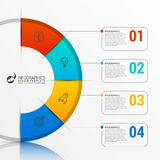 Infographic report template with 4 steps. Vector. Infographic report template with 4 steps. Business concept. Vector illustration royalty free illustration