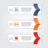 Infographic report template with text and icons Royalty Free Stock Photos