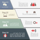 Infographic report template with text and icons Stock Photo