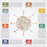 Infographic report template with text and icons Royalty Free Stock Image