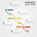 Infographic report template. Vector illustration Stock Images