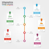 Infographic report template. Vector illustration Stock Photography