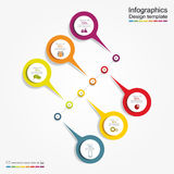 Infographic report template. Vector illustration Stock Photo